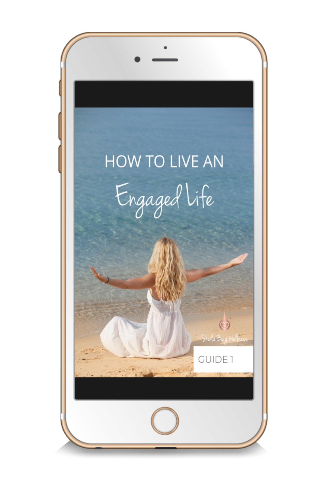 Enaged Life e-book on a gold iphone