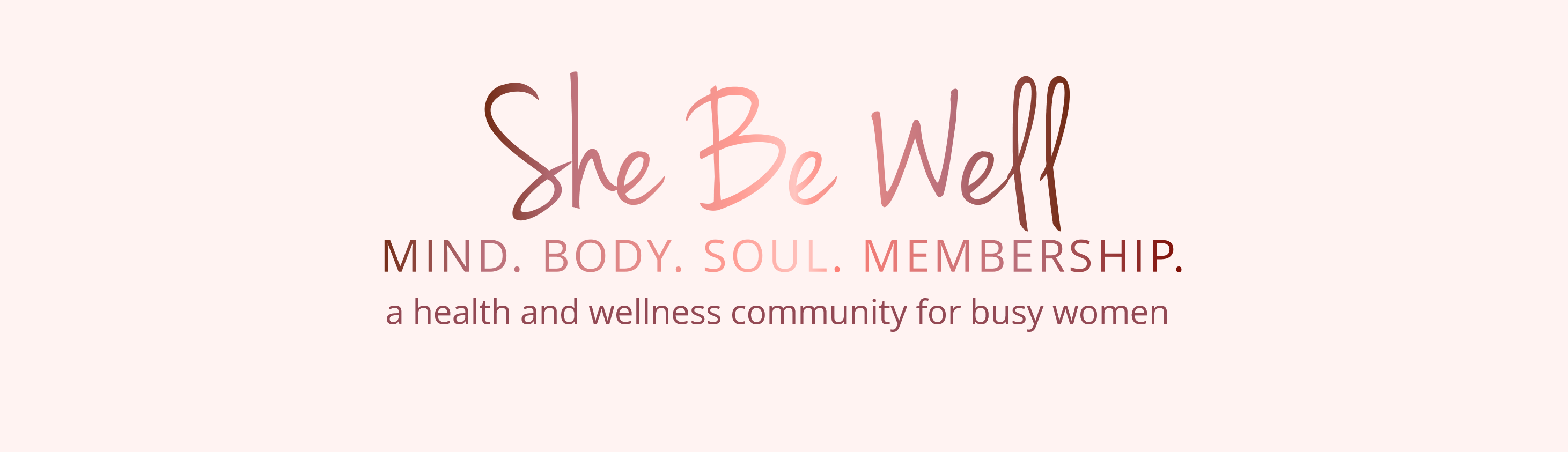 She Be Well Wellness Membership Logo